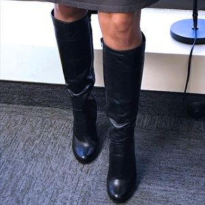 "Aldo ""Monnie"" Leather Heel Boots size 38"